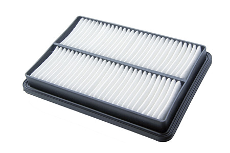 an air filter, auto spare part, clipping path