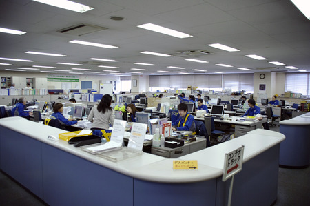 anger management: workers in the office of Nippon Express company
