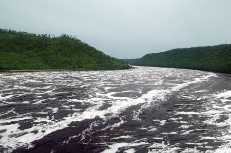 Image of the Bureya river Primorsky Krai russia