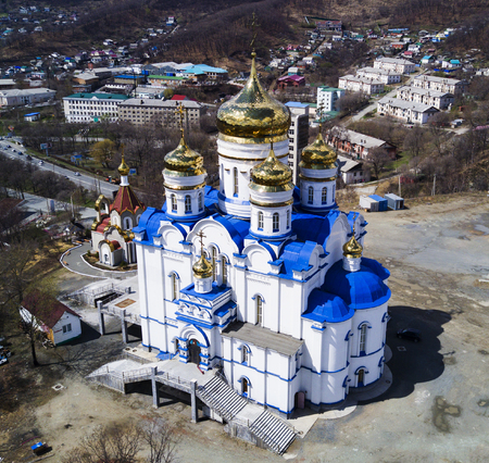 Cathedral Church of the Kazan Icon of the Mother of God, the city of Nakhodka Banco de Imagens
