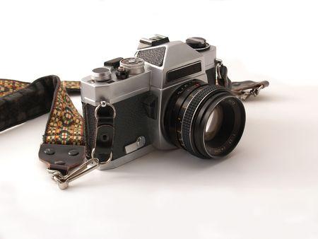 Old 35-mm SLR camera, brand name removed