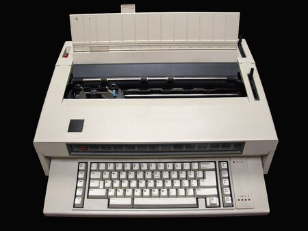 Electric typewriter, isolated with