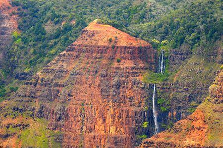 Waipo'o Falls in Waimea Canyon, Kauai, Hawaii Stock fotó - 4982754