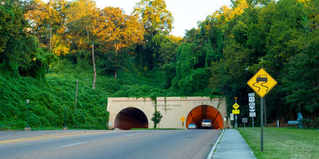Missionary Ridge highway tunnel in Chattanooga, Tennessee Stock Photo