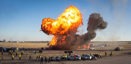 Explosión en un simulacro de emergencia