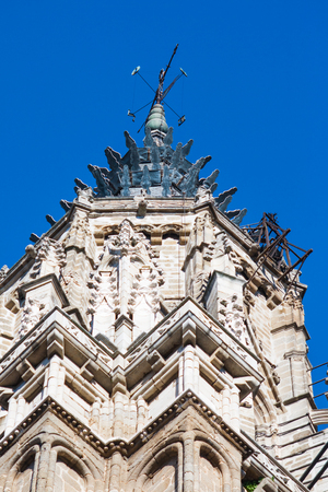Tower of the cathedral of Toledo, Gothic style