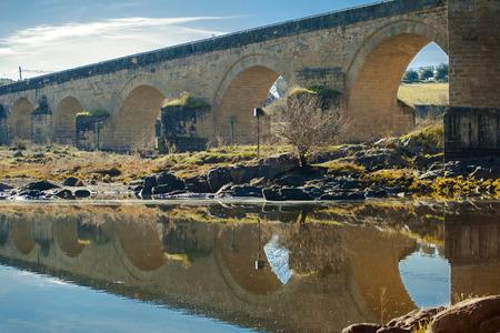 The Archbishop's Bridge, province of Toledo, Castille-La Mancha, Spain. The archbishop's bridge.