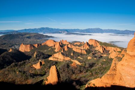 The Medulas in the Bierzo, ancient Roman gold mining, World Heritage by Unesco. Leon, Spain