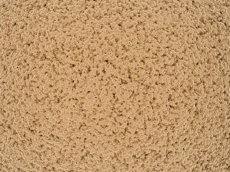 Macro view illustration of a light brown fluffy material resembling a satellite view of a desert or a mountain Banco de Imagens - 156339053