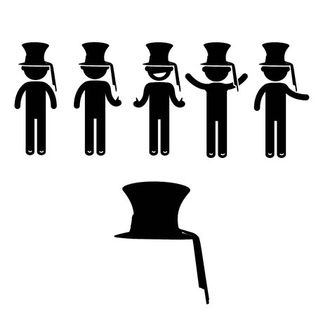 italian tradition: Man Basic Posture People Icon Sign Clothing Costume pirate Stock Photo