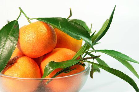 Fresh mandarins Stock Photo