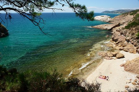 Crystall beach on Thassos island