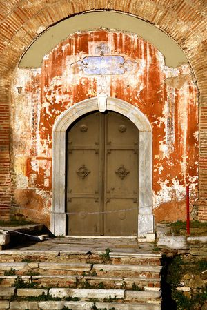 Old byzantine door    photo