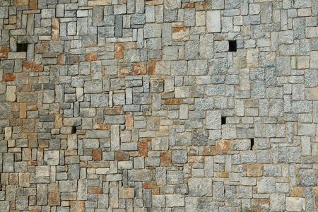 Wall with stones Stock Photo