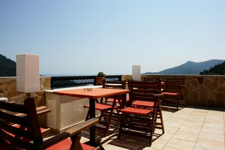 Cafeteria on terrace