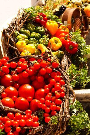Vegetables on Santorini island, Greece