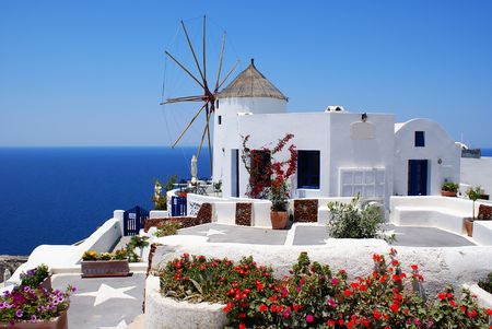 Windmill (Santorini island, Greece)           Stock Photo