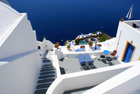 Special architecture on Santorini island Greece