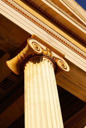 Greek pillars under Akropolis, Athens