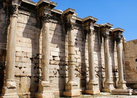 platon: Greek pillars under Akropolis, Athens