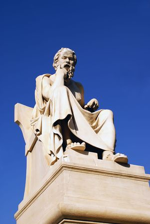 Socrates statue in Athens, Greece                     photo