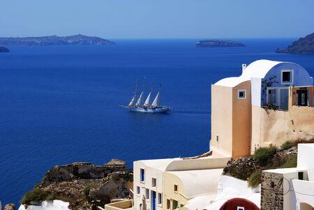 Sea view on Santorini island, Greece
