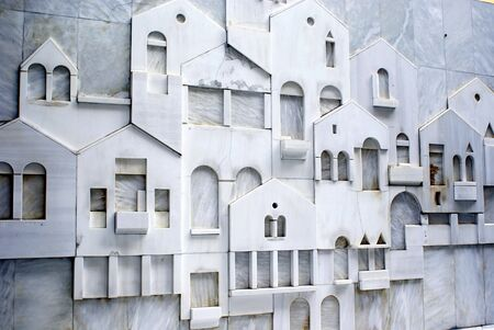 Art with white marble, Greece