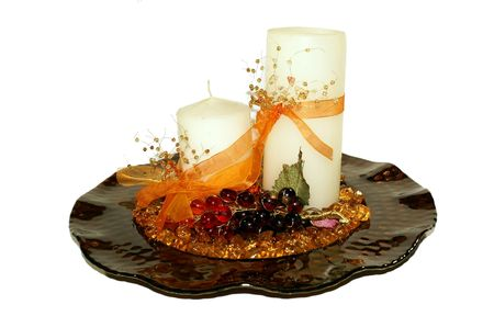 christmas decorations (isolated) Stock Photo