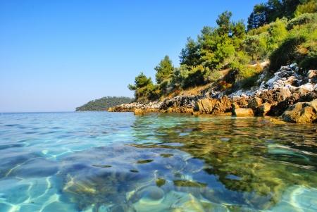 Beautiful beach in Zakynthos island, Greece Stock Photo