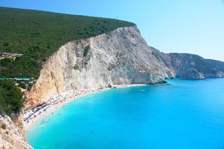 View of porto Katsiki beach                                Stock Photo