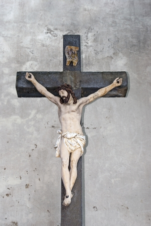 iron cross: Jesus Christ on the Cross of iron