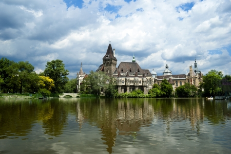 The Vajdahunyad castle, Budapest main city park Stock Photo