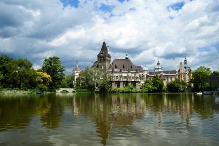 The Vajdahunyad castle, Budapest main city park Stock Photo