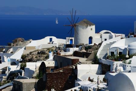 aegean sea: Traditional architecture of Oia village on Santorini island, Greece