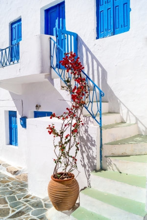 Traditional greek house on Sifnos island, Greece photo