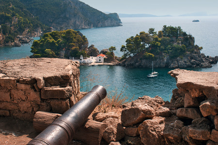 Panagia isle at Parga near Syvota in Greece  Ionian sea Stock Photo