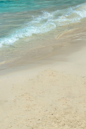 background of wave on the sand in Greek island