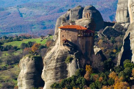 Hanging monastery at Meteora of Kalampaka in Greece.