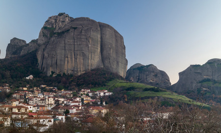 kalampaka: Hanging monastery at Meteora of Kalampaka in Greece.