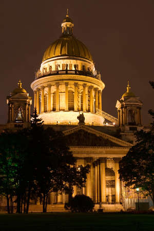 Night View of St. Petersburg. St. Isaac photo