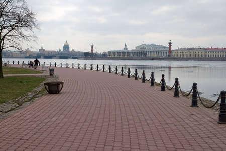 Quay Hare Island  View of the Neva  St  Petersburg photo