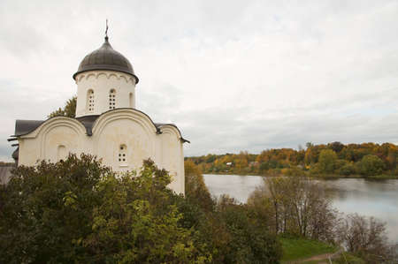 Church of St  George  Fortress Old Ladoga, Russia photo