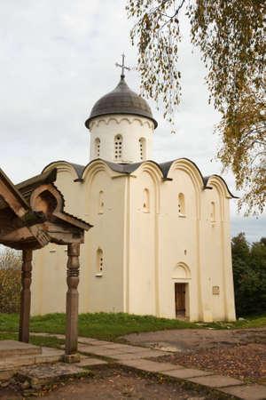 ladoga: Church of St  George  Fortress Old Ladoga, Russia Stock Photo