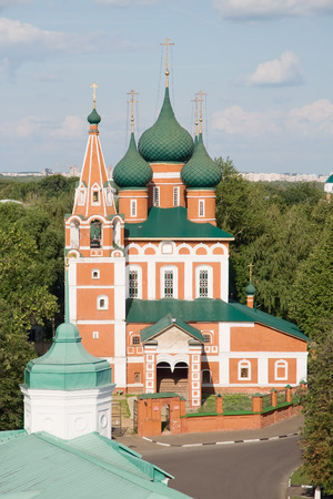 The Church of the Archangel Michael in Yaroslavl, Russia. View from a height photo