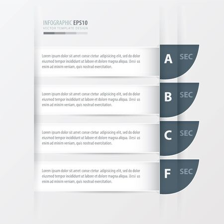 colore: curve Modern infographics banner. white colore style.white color style. Illustration