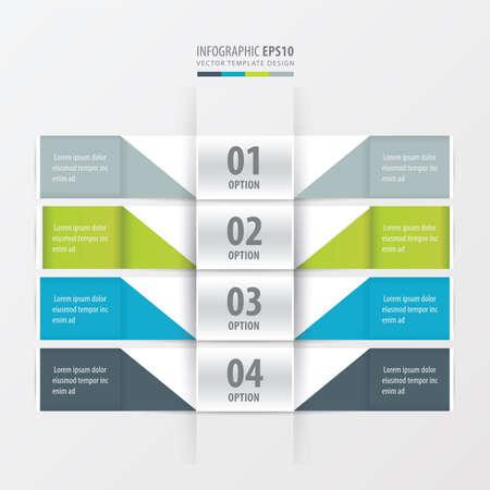 for website: Design banner for website 4 color Illustration