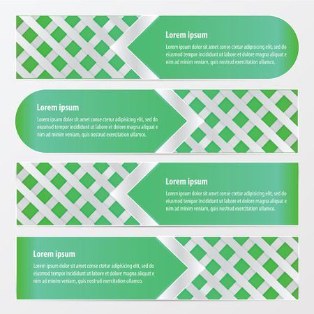 weave: banner weave vector  green color