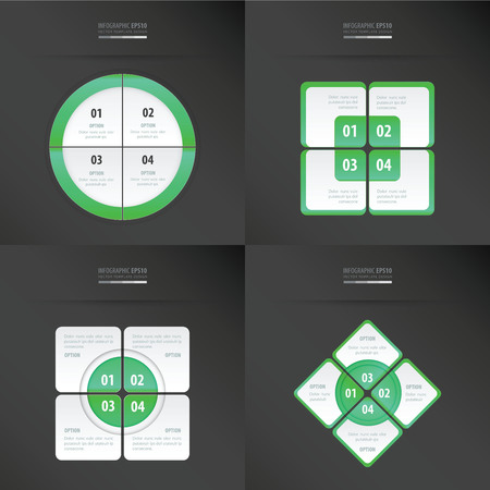 neon green: set of presentation template  neon green color