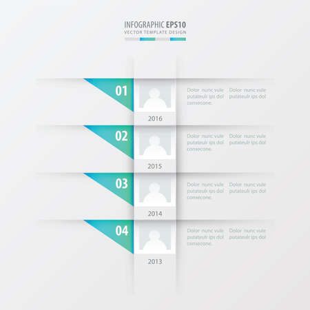 blue gradient: vector timeline design template  blue gradient color Illustration