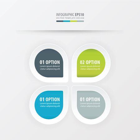 presentation template vector   Green, blue, gray color